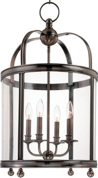 Hudson Valley 7816-PN Larchmont Polished Nickel 16.5 Foyer Light Fixture