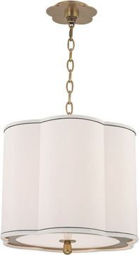 Hudson Valley 7915-AGB Sweeny Aged Brass 15 Drum Hanging Pendant Light