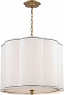 Hudson Valley 7920-AGB Sweeny Aged Brass 20 Drum Hanging Light Fixture