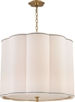 Hudson Valley 7925-AGB Sweeny Aged Brass 25  Drum Drop Ceiling Lighting