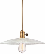 Hudson Valley 8001-AGB-GS4 Heirloom Aged Brass Drop Ceiling Light Fixture