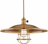 Hudson Valley 8001-AGB-ML2-WG Heirloom Aged Brass Pendant Lighting
