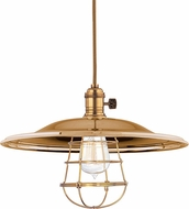 Hudson Valley 8001-AGB-MM2-WG Heirloom Aged Brass Lighting Pendant
