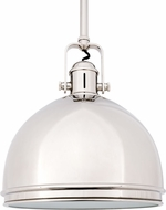 Hudson Valley 8011-PN Marion Polished Nickel Mini Ceiling Pendant Light