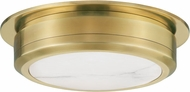 Hudson Valley 8014-AGB Greenport Contemporary Aged Brass LED 14 Flush Ceiling Light Fixture