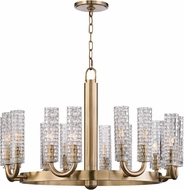 Hudson Valley 8016-AGB Dartmouth Aged Brass Ceiling Chandelier