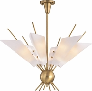Hudson Valley 8066-AGB Cooper Modern Aged Brass LED Ceiling Chandelier