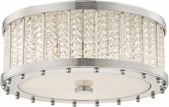 Hudson Valley 8116-PN Shelby Contemporary Polished Nickel Flush Mount Ceiling Light Fixture