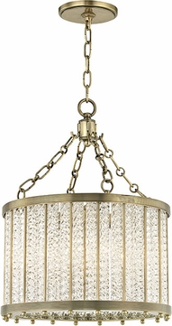 Hudson Valley 8119-AGB Shelby Modern Aged Brass 16  Drum Drop Ceiling Lighting