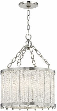 Hudson Valley 8119-PN Shelby Contemporary Polished Nickel 16  Drum Ceiling Light Pendant