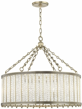 Hudson Valley 8125-AGB Shelby Modern Aged Brass 28 Drum Ceiling Pendant Light