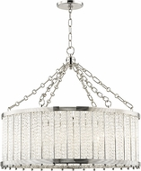 Hudson Valley 8125-PN Shelby Contemporary Polished Nickel 28  Drum Drop Ceiling Light Fixture