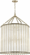 Hudson Valley 8140-AGB Shelby Modern Aged Brass Drum Drop Lighting Fixture