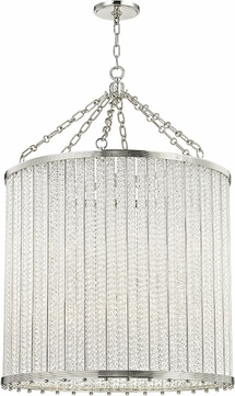 Hudson Valley 8140-PN Shelby Contemporary Polished Nickel Drum Pendant Lighting