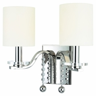 Hudson Valley 8162-PN Bolton 12 Inch Wide Transitional Polished Nickel 2 Lamp Wall Lamp