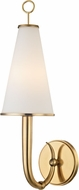 Hudson Valley 8200-AGB Colden Aged Brass Wall Light Fixture