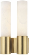 Hudson Valley 8214-AGB Barkley Contemporary Aged Brass LED Wall Light Fixture