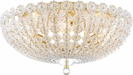 Hudson Valley 8222-AGB Floral Park Aged Brass Flush Mount Lighting Fixture