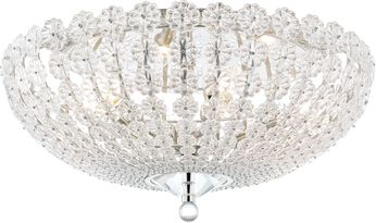 Hudson Valley 8222-PN Floral Park Polished Nickel Flush Ceiling Light Fixture
