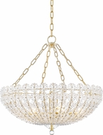 Hudson Valley 8224-AGB Floral Park Aged Brass Chandelier Lamp