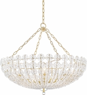 Hudson Valley 8234-AGB Floral Park Aged Brass Ceiling Chandelier