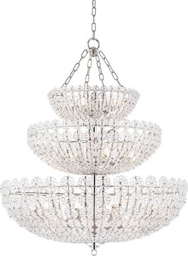 Hudson Valley 8239-PN Floral Park Polished Nickel Chandelier Lighting