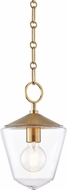 Hudson Valley 8308-AGB Greene Modern Aged Brass Mini Pendant Lamp