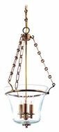 Hudson Valley 831 Eaton 12 Inch Diameter 3 Candle Clear Glass Pendant Hanging Light