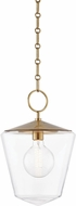 Hudson Valley 8312-AGB Greene Modern Aged Brass Mini Hanging Light