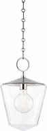 Hudson Valley 8312-PN Greene Contemporary Polished Nickel Mini Pendant Light Fixture
