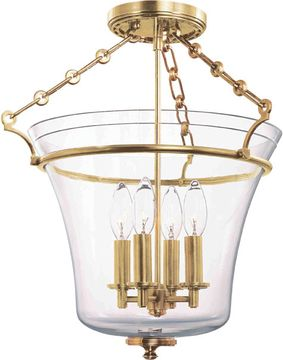Hudson Valley 832-AGB Eaton Aged Brass 15.75  Flush Mount Lighting Fixture