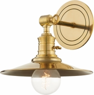Hudson Valley 8320-AGB Garden City Contemporary Aged Brass Wall Mounted Lamp