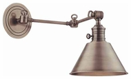 Hudson Valley 8322 Garden City Horizontal Swing Arm Wall Lamp - Metal Shade