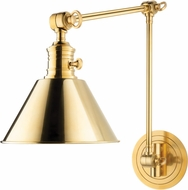 Hudson Valley 8323-AGB Garden City Retro Aged Brass Swing Arm Wall Lamp