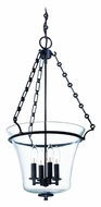 Hudson Valley 833 Eaton Medium 4 Candle Clear Glass 15 Inch Diameter Hanging Lamp