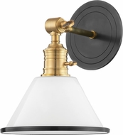 Hudson Valley 8331-AOB Garden City Contemporary Aged Old Bronze Wall Sconce Light
