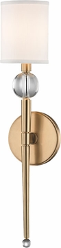 Hudson Valley 8421-AGB Rockland Aged Brass Wall Sconce Light