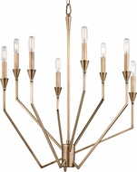 Hudson Valley 8508-AGB Archie Contemporary Aged Brass Chandelier Light
