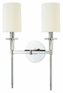 Hudson Valley 8512-PN Amherst Polished Nickel Transitional 2 Lamp 18 Inch Tall Wall Lighting Fixture