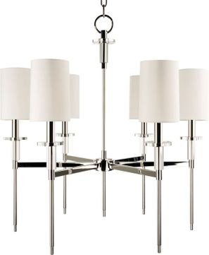 Hudson Valley 8516-PN Amherst Contemporary Polished Nickel Chandelier Light