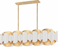 Hudson Valley 8546-GL-WH Banks Contemporary Gold Leaf and White Island Lighting
