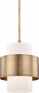 Hudson Valley 8611-AGB Corinth Contemporary Aged Brass Mini Pendant Lighting Fixture
