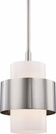 Hudson Valley 8611-PN Corinth Contemporary Polished Nickel Mini Hanging Pendant Light