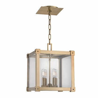 Hudson Valley 8612-AGB Forsyth Contemporary Aged Brass 12  Wide Foyer Lighting