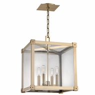 Hudson Valley 8616-AGB Forsyth Modern Aged Brass 16 Wide Entryway Light Fixture