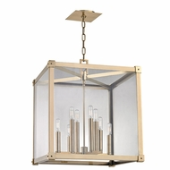 Hudson Valley 8620-AGB Forsyth Contemporary Aged Brass 20  Wide Foyer Lighting Fixture