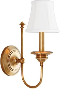 Hudson Valley 8711-AGB Yorktown Aged Brass Wall Sconce