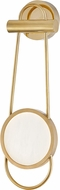 Hudson Valley 8721-AGB Valeri Contemporary Aged Brass LED Lighting Sconce