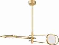 Hudson Valley 8722-AGB Valeri Contemporary Aged Brass LED Pendant Lighting