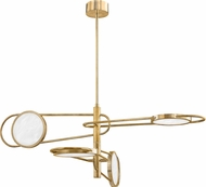 Hudson Valley 8724-AGB Valeri Contemporary Aged Brass LED Lighting Pendant